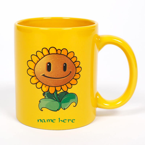 Photo of write your name on sunflower mug