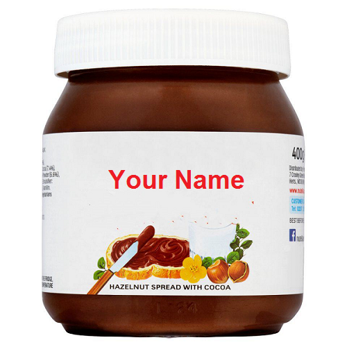 Photo of Write your name on Nutella