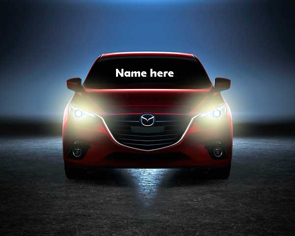Photo of write your name on car front glass flash light