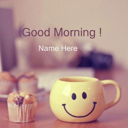 Photo of write name on good morning smile