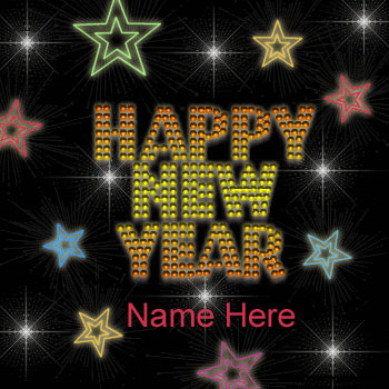 Photo of write name on gif happy new year gif card with name