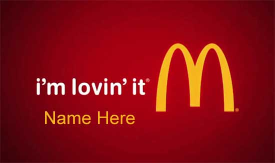 Photo of write your name on your mcdonalds favorite fast food photo