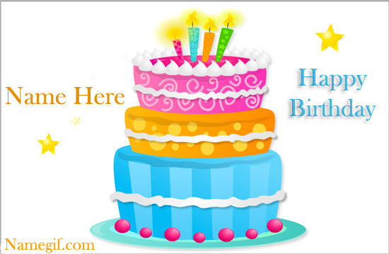 Photo of Happy Birthday Cake With Name write name birthday cake card
