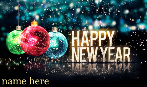 Photo of write name on gif happy new year