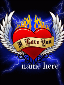 Photo of Write name on I Love You on red heart