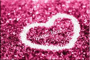 Photo of write name on gif lovers heart glitter gif image