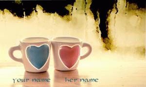 Photo of write your names on couples mug