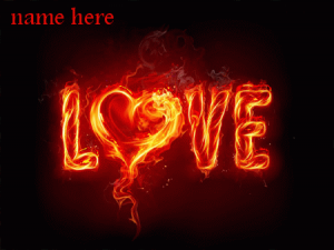 Photo of write your name on fire of love GIF images