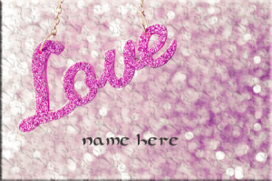 Photo of write your name on love word gif image