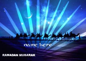 Photo of add name on Ramadan Mubarak GIF images