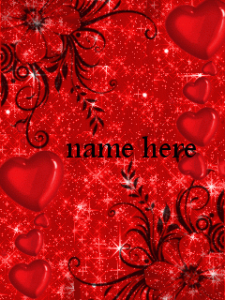 Photo of Write name on animated red hearts and flowers