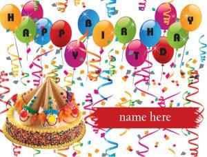 Photo of write your name on kids birthday card gif