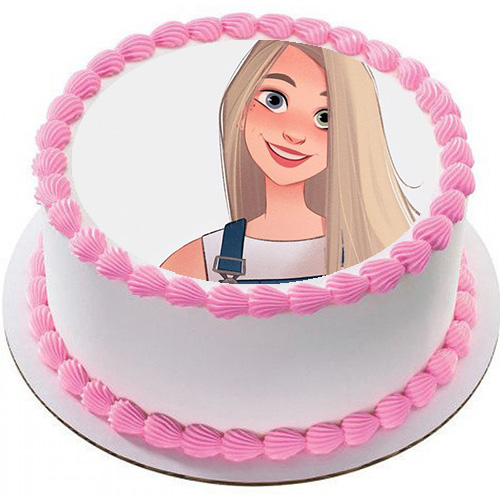 Happy Birthday Cake Photo Frame big birthday cake with white cream - Happy Birthday Cake Photo Frame big birthday cake with white cream