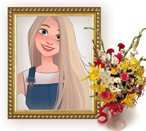 Photo Frame gold classic romantic frame flowers Frame - Photo Frame gold classic romantic frame flowers Frame