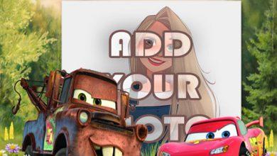 Photo of car land toon kids cartoon photo frame