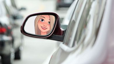 Photo of car mirror misc photo frame