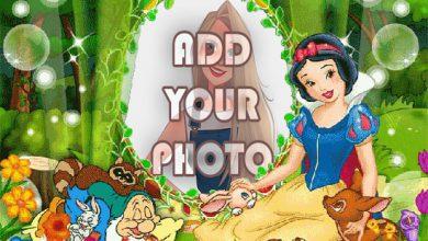 Photo of cute snow white kids cartoon photo frame