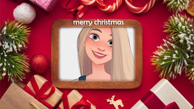 Photo of gifts merry christmas photo frame