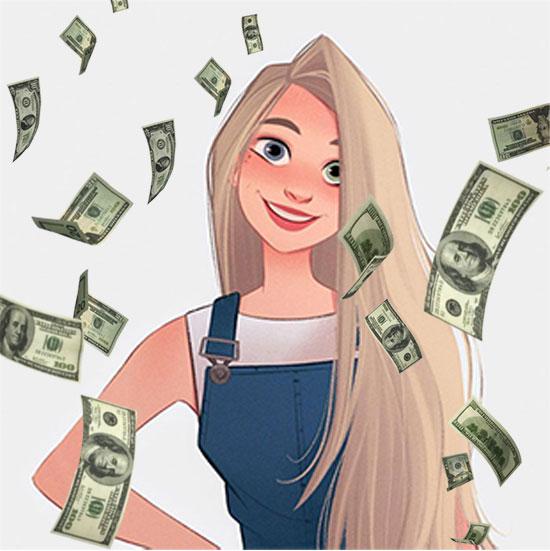 its raining money misc photo frame - its raining money misc photo frame
