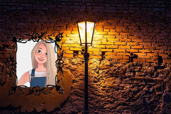light on old wall misc photo frame - light on old wall misc photo frame