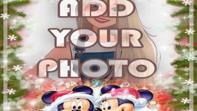 Photo of mickey mouse Christmas kids cartoon photo frame