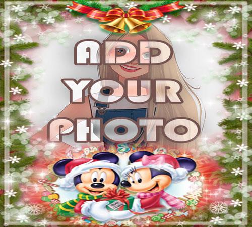 mickey mouse Christmas kids cartoon photo frame - mickey mouse Christmas kids cartoon photo frame