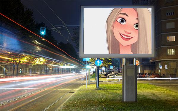 night street advertisement misc photo frame - night street advertisement misc photo frame