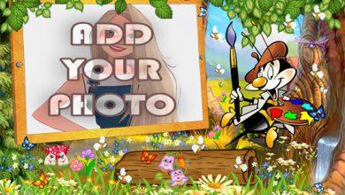 Photo of the Artist Bee kids cartoon photo frame