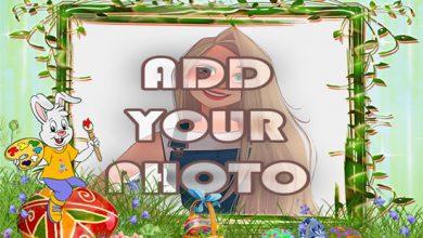 Photo of the Artist bunny kids cartoon photo frame