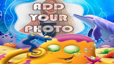Photo of the cute octopus kids cartoon photo frame
