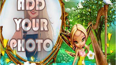 Photo of the fairy lake kids cartoon photo frame