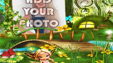 Photo of the fairy land kids cartoon photo frame
