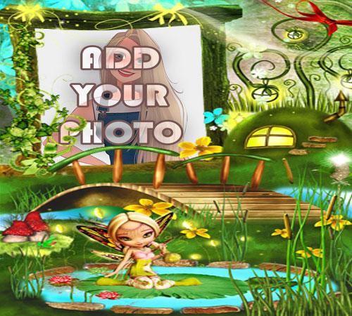 the fairy land kids cartoon photo frame - the fairy land kids cartoon photo frame