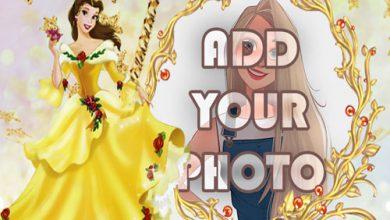 Photo of the princess in yellow dress kids cartoon photo frame