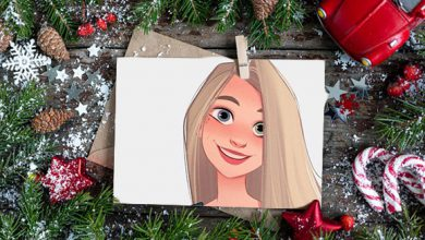 Photo of christmas cards photo frame