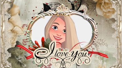 Photo of love collage photo frame romantic frame