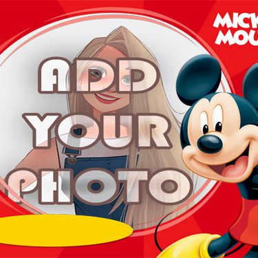 fun mickey mouse kids cartoon photo frame square - Frames for photo. lovely photo frame online
